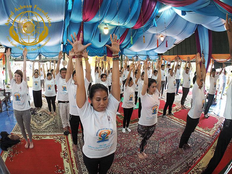 International Yoga Day Indonesia Pre event